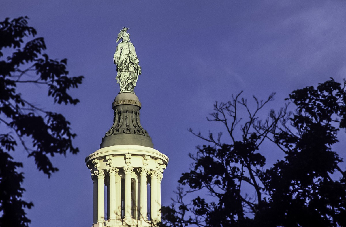 The Freedom Statue on the Capitol Dome - photo by Ron Jautz