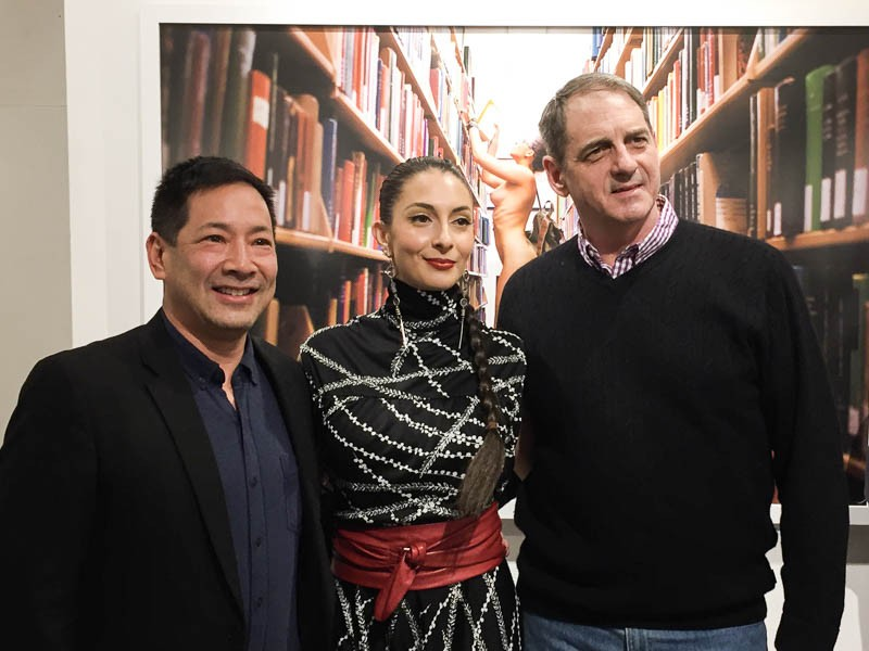 APA New York co-Chairs, Michael Seto (left) and Ron Jautz (right) with APA Member Erica Simone at her book launch in NYC, Jan 2016.